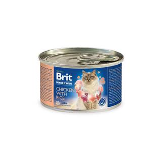 BRIT cat  premium  konz. CHICKEN/rice - 200g