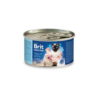BRIT cat  premium konz. TROUT/liver - 200g