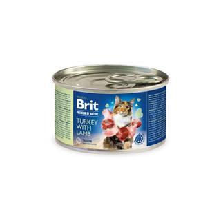 BRIT cat  premium konz. TURKEY/lamb - 200g