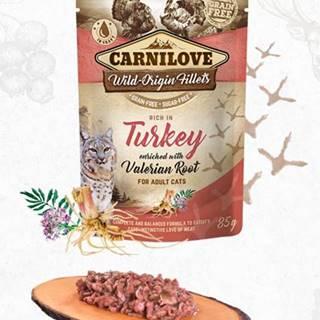 CARNILOVE cat   kapsa  ADULT  TURKEY/valerian - 85g