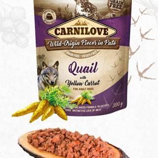 CARNILOVE dog  kapsa  PATÉ QUAIL/yellow carrot  - 300g