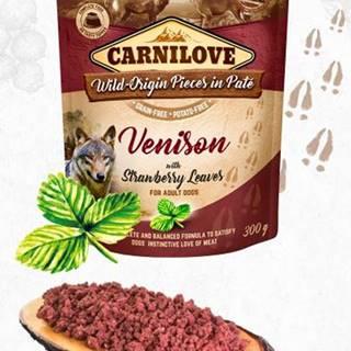CARNILOVE dog vrecko piatej Venison / jahoda leaves - 300g