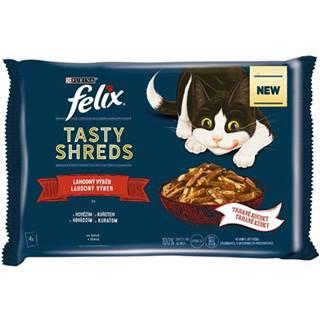 FELIX kapsa TASTY SHREDS 4 x 80g - LOSOS/tuniak v šťáve