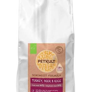 PETKULT dog SEMIMOIST/MINI ADULT turkey - 1,5kg