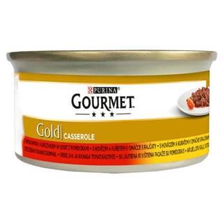PURINA GG CASSEROLE hovězí/kuře v rajč. omáčce konzerva - 85g