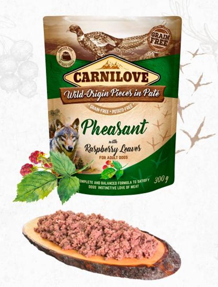 Carnilove CARNILOVE dog kapsa  PATÉ PHEASANT/raspberry leaves - 300g