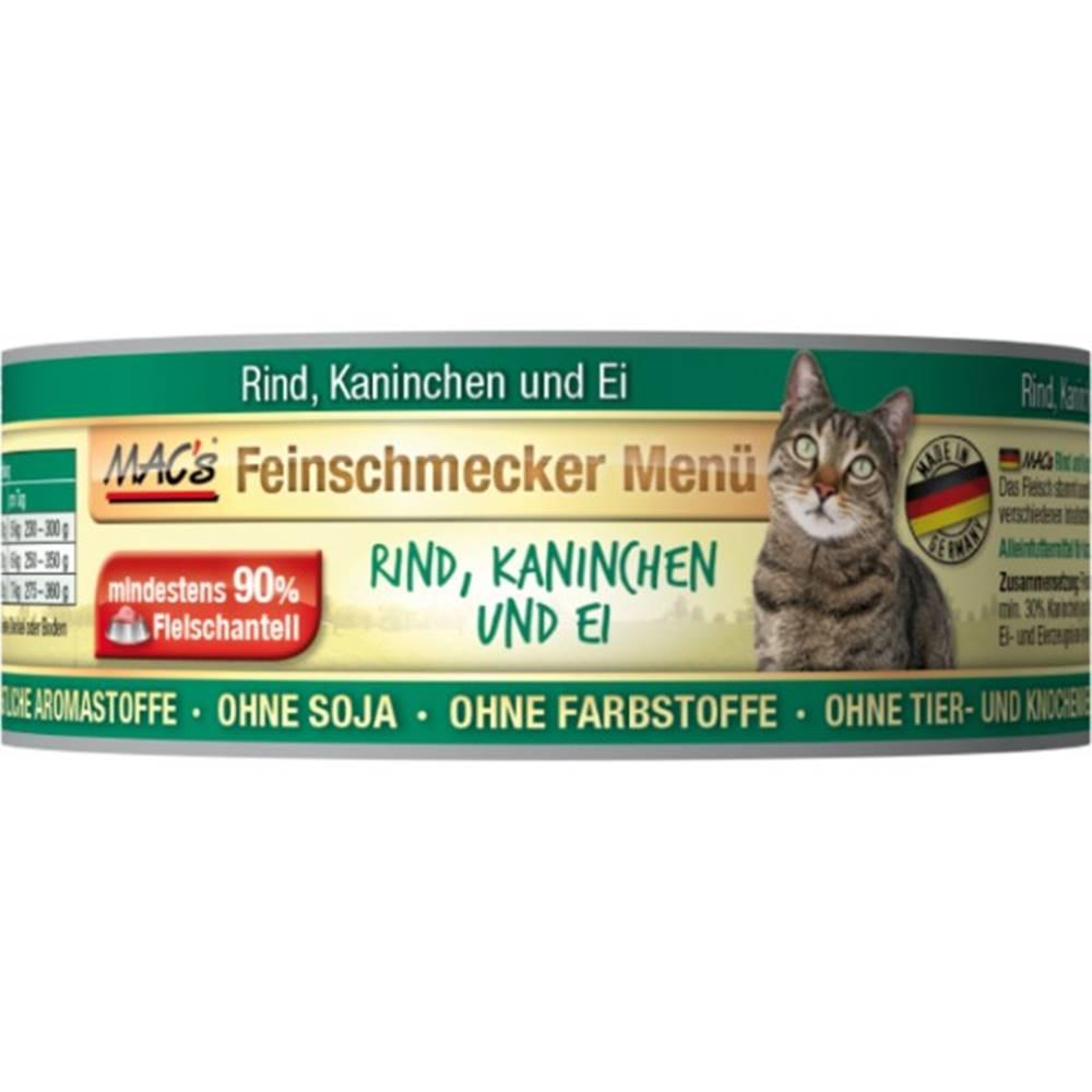(bez zařazení) MACs  cat  konz. feinschmecker RIND/KANINCHEN - 100g
