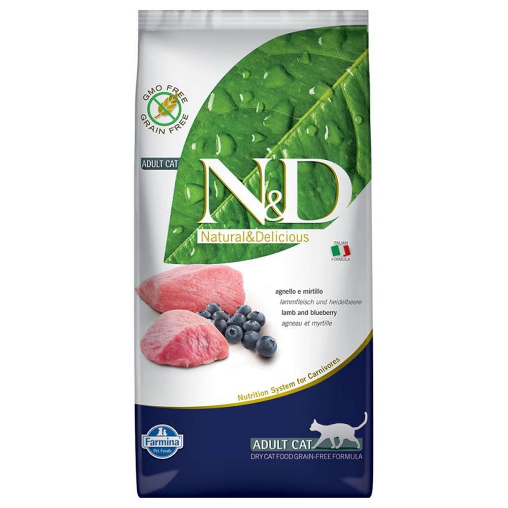 Natural&Delicious N&D cat GF ADULT LAMB / BLUEBERRY - 300g
