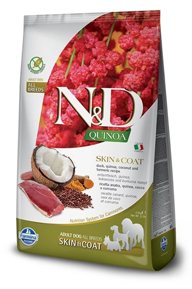 Natural&Delicious N&D dog GF QUINOA skin/coat DUCK/COCONUT - 800g