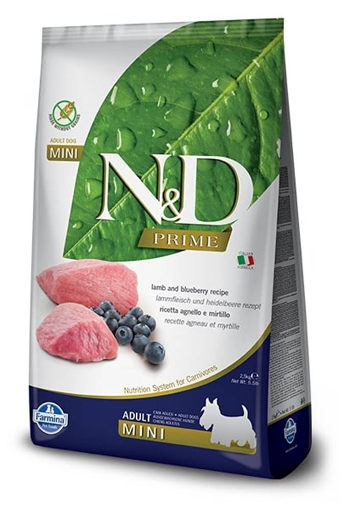 Natural&Delicious N&D dog PRIME ADULT MINI lamb/blueberry - 800g