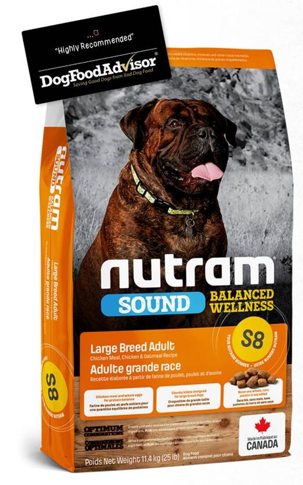 Nutram NUTRAM dog   S8 -  ADULT  LARGE  - 11,4kg