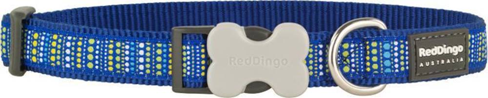 Red-dingo Obojek RD LOTZADOTZ blue - 1,2/20-32cm