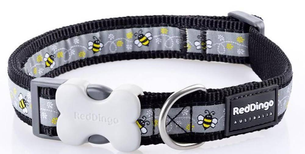 Red-dingo Obojok RD BUMBLE BEE black - 1,2/20-32cm