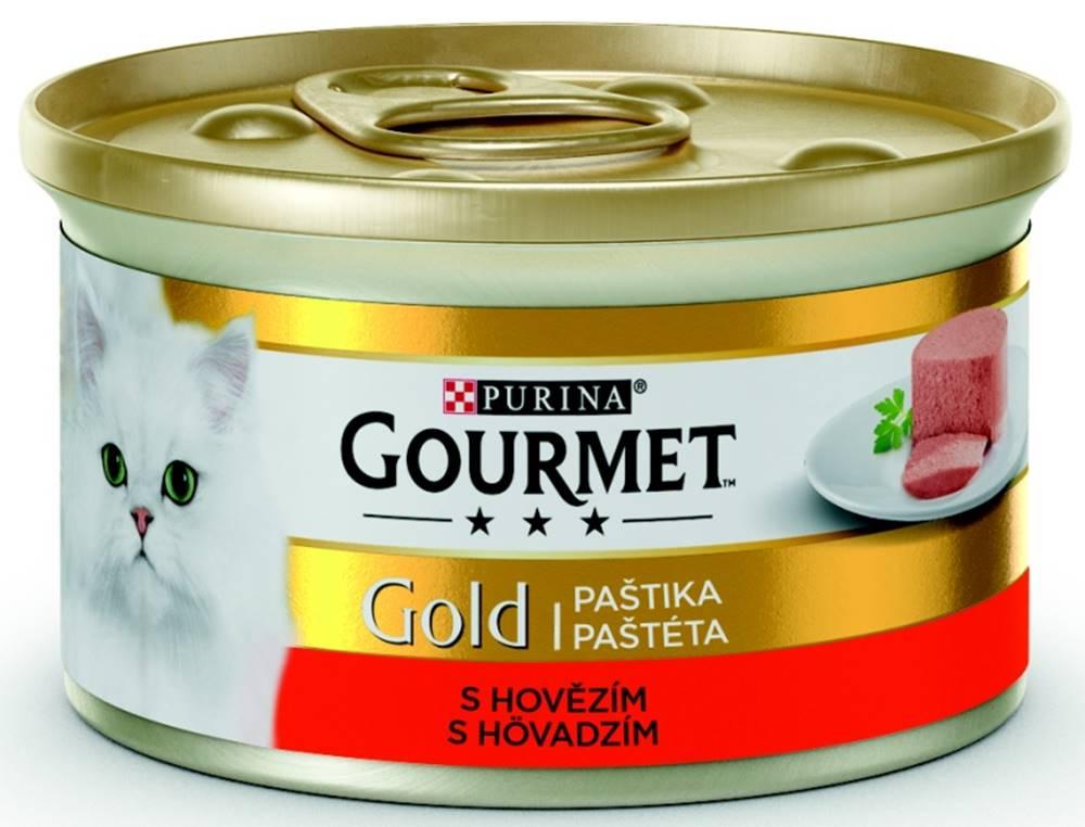 Gourme gold PURINA GG jemná paštika HOVĚZÍ konzerva - 85g
