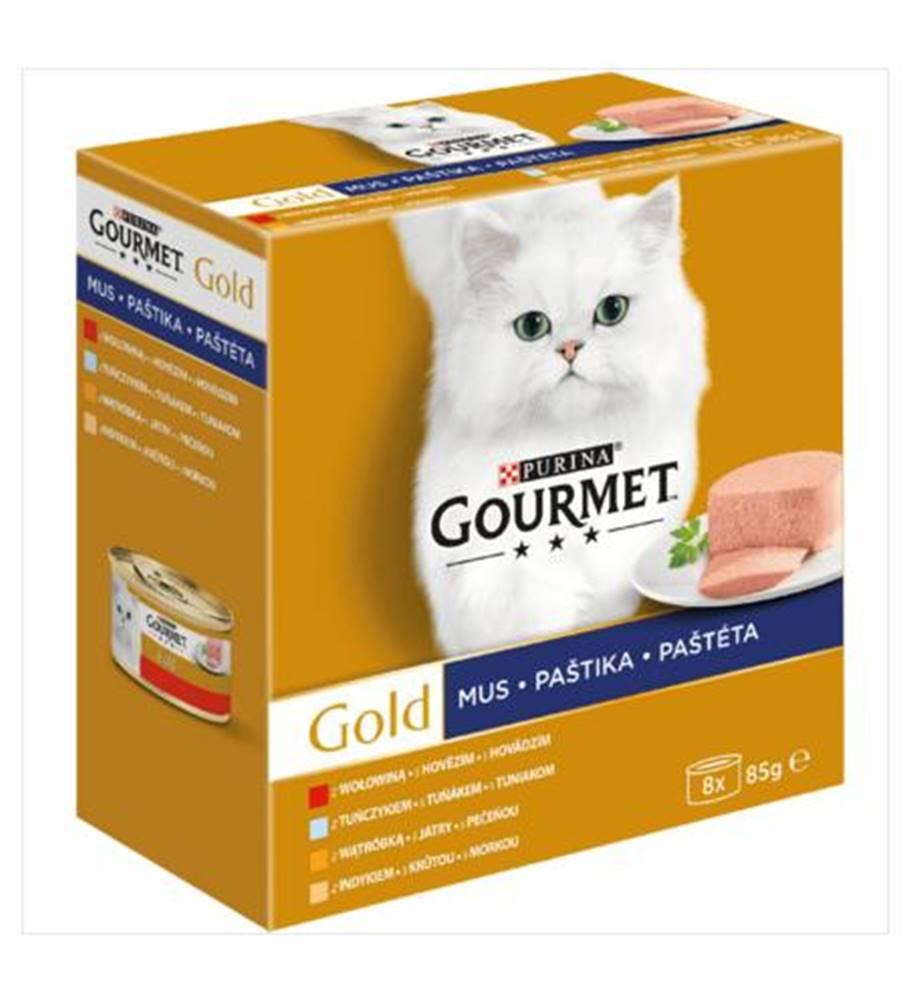 Gourme gold PURINA GG konzerva PAŠTIKA  - 8 x 85g