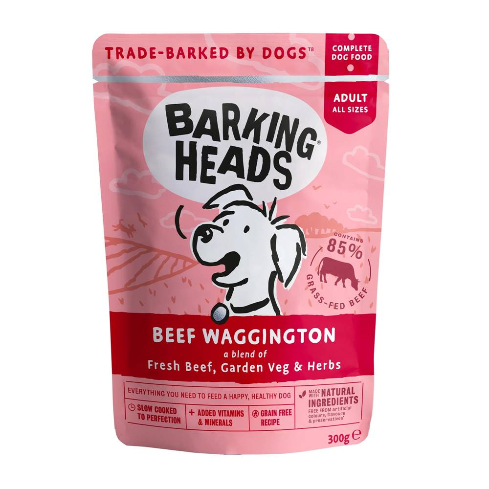 Barking heads Barking Heads kapsa BEEF waggington - 300g