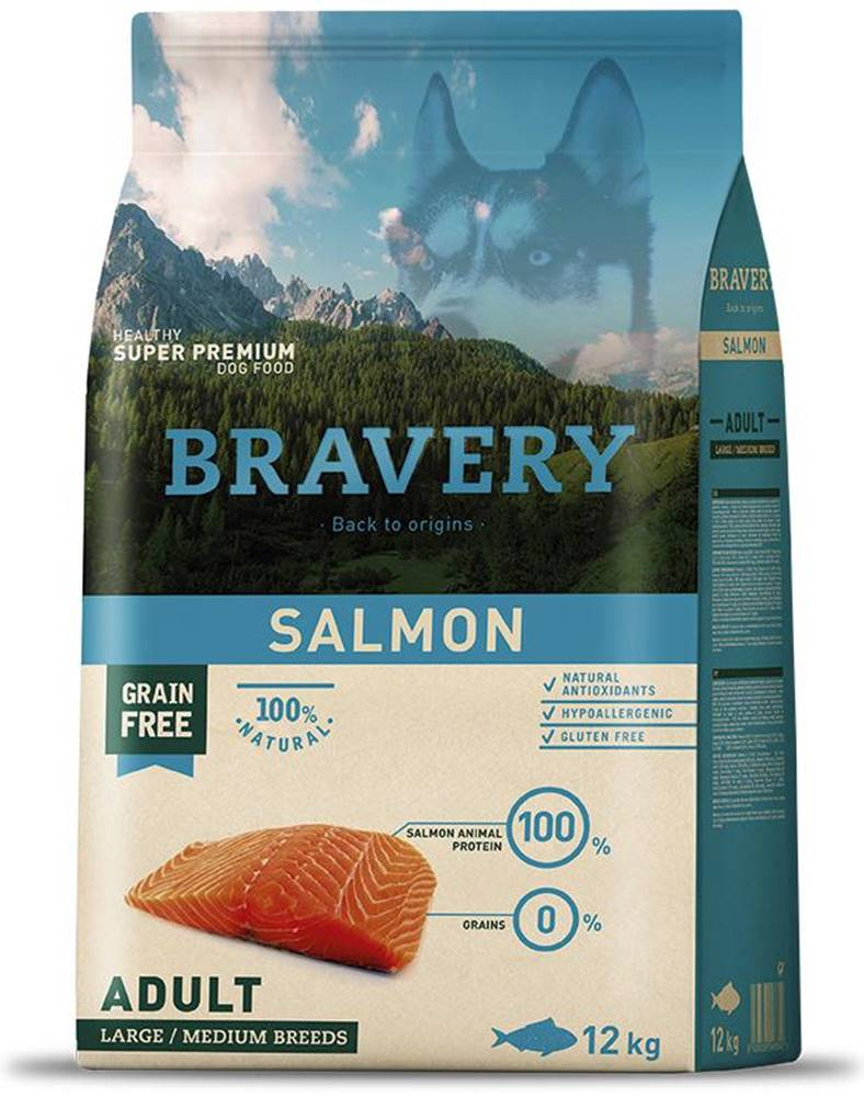 Bravery BRAVERY dog ADULT large/medium SALMON - 4kg