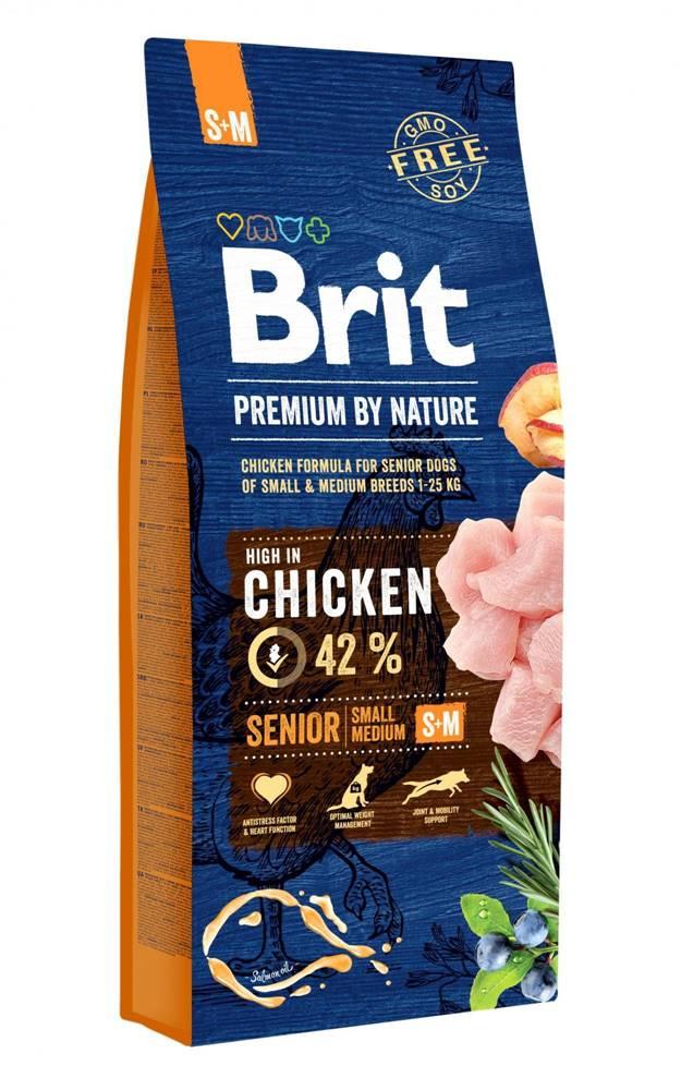 Brit BRIT dog Premium By Nature SENIOR S+M - 3kg