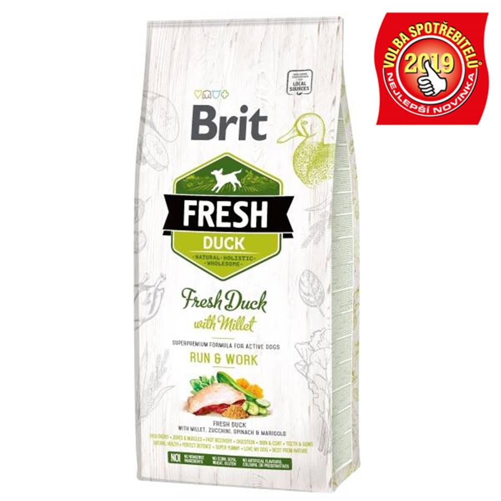 Brit BRIT FRESH ADULT RUN and WORK duck/millet - 2,5kg