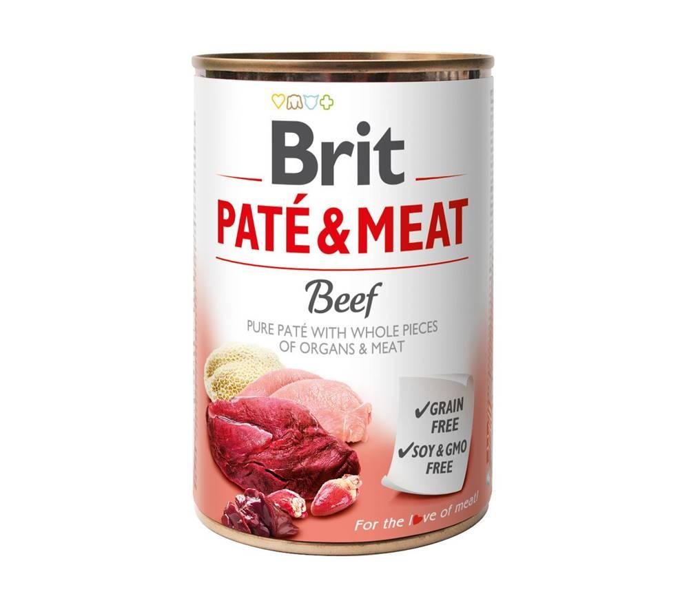 Brit BRIT  konzerva PATE and MEAT 400g - HOVÄDZIE