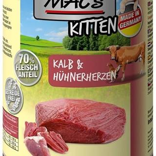 MACs  cat  konz. KITTEN  kalb/hunherherzen - 400g