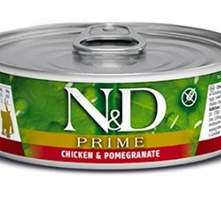 N&D cat  konz  KITTEN PRIME CHICKEN/POMEGRANATE - 12 x 80g