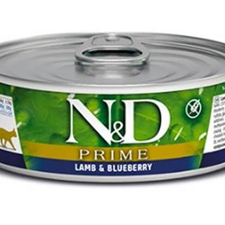N&D cat  konz. PRIME lamb/BLUEBERRY - 12 x 80g