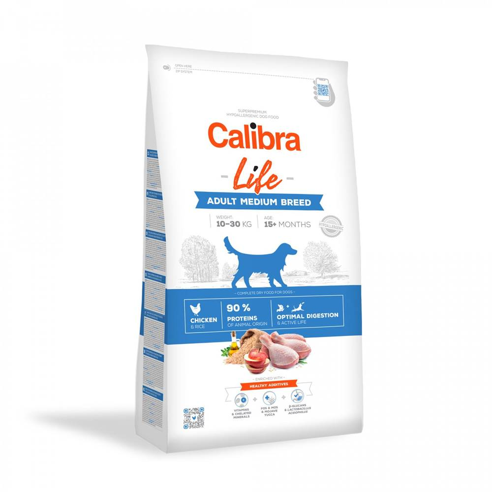Calibra CALIBRA dog LIFE ADULT medium CHICKEN - 2,5kg