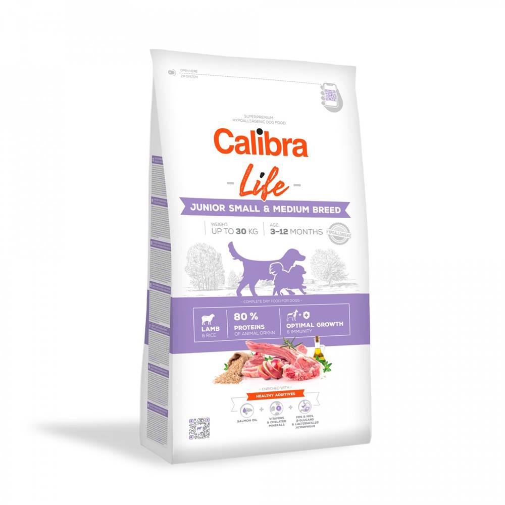 Calibra CALIBRA dog LIFE JUNIOR small & medium LAMB - 2,5kg