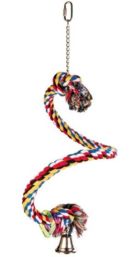Trixie HRAČKA vták Hojdačka bavlnené lano špirála - 50cm