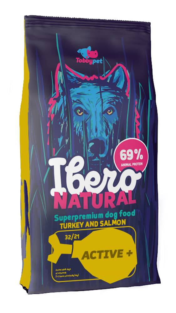 Ibero Ibero NATURAL dog ACTIVE plus - 12+3kg