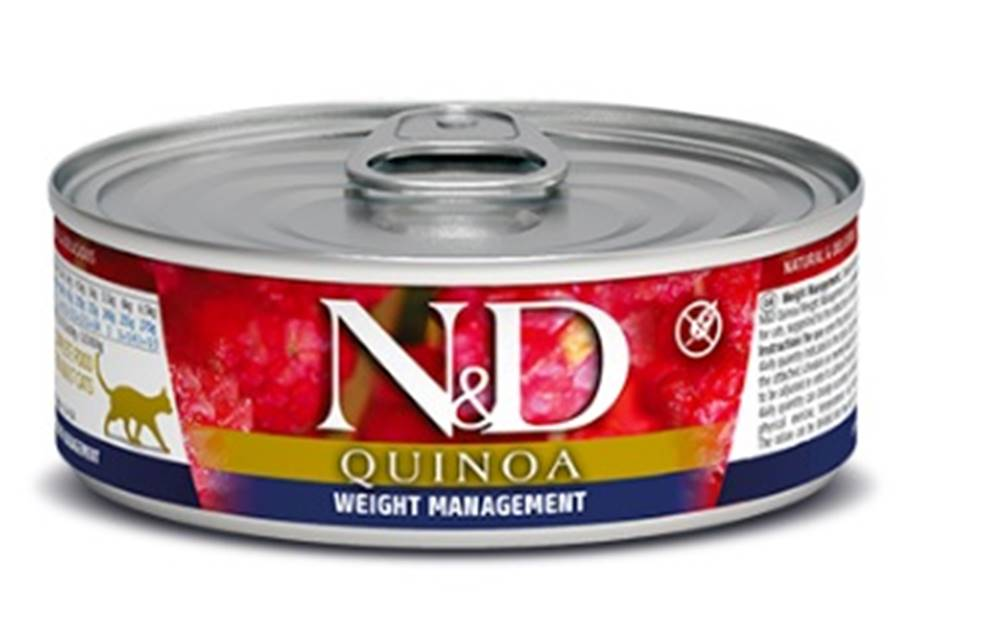 Natural&Delicious N&D cat  konz. QUINOA weight MANAGEMENT - 12 x 80g
