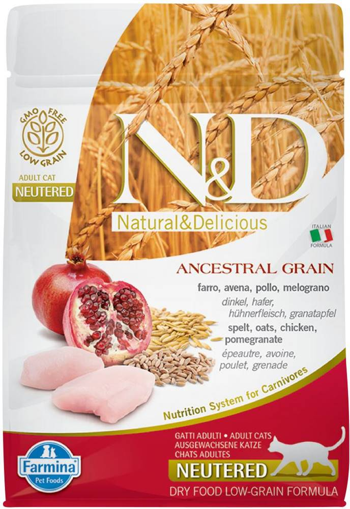 Natural&Delicious N&D cat LG NEUTERED CHICKEN / POMEGRANATE - 300g