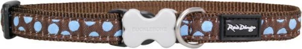 Red-dingo Obojek RD Blue Spots on Brown - 1,2/20-32cm