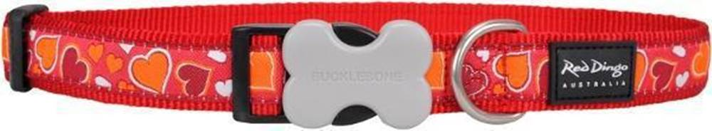 Red-dingo Obojok RD Breezy Love Red - 1,2/20-32cm