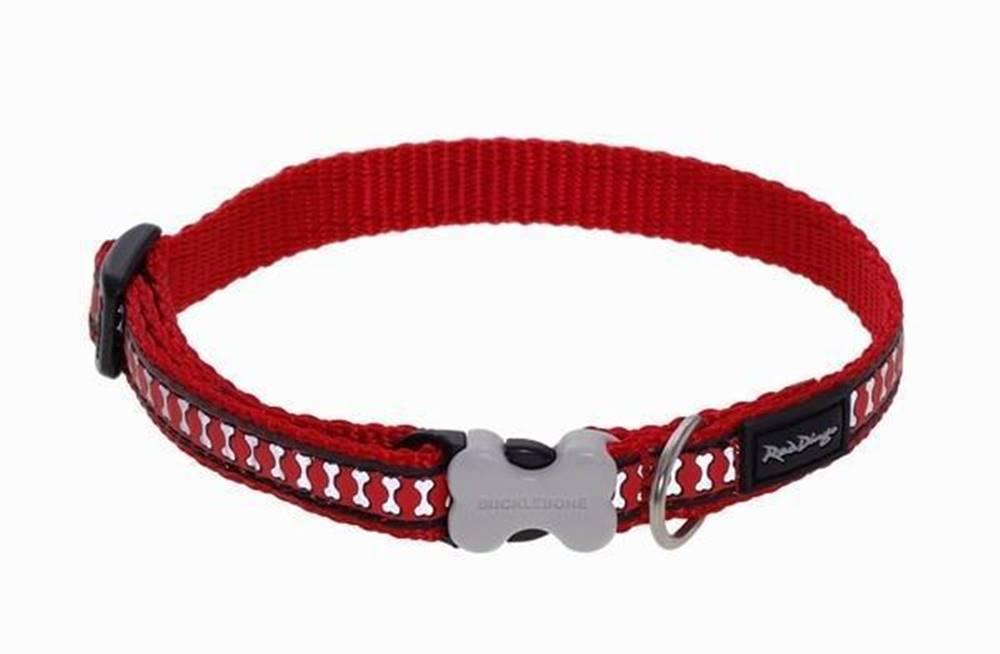 Red-dingo Obojok RD Reflective Red - 1,2/20-32cm