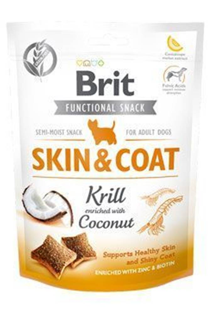 Brit Care Brit Care Dog Functional Snack Skin&Coat Krill 150g