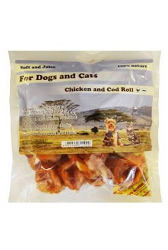 For Dogs and Cats Pochoutka Tresčí kroužky s kuřecím masem měkké 230g