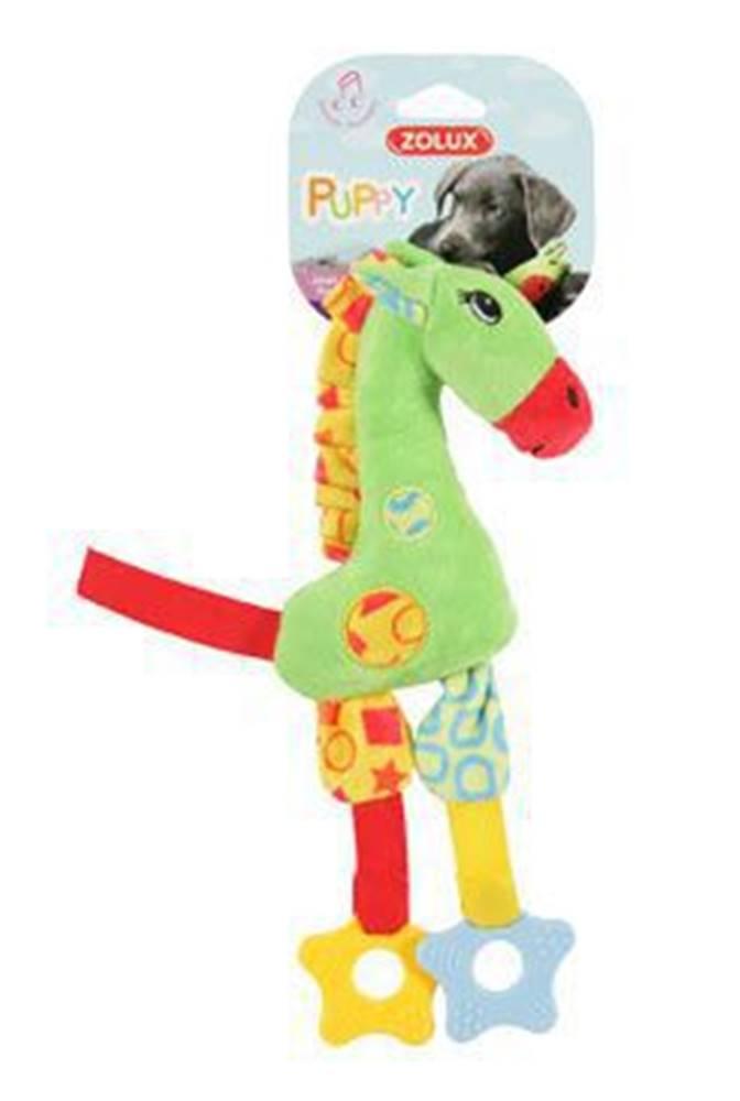 Zolux Hračka pes GIRAFFE COLOR plyš zelená 29cm Zolux