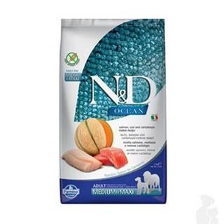N&D OCEAN DOG Adult M/L Salmon & Cod & Melon 2,5kg