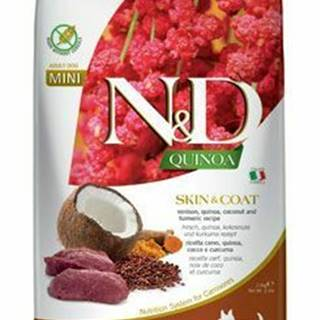 N&D Quinoa DOG Skin & Coat Venison & Coconut Mini 2,5g