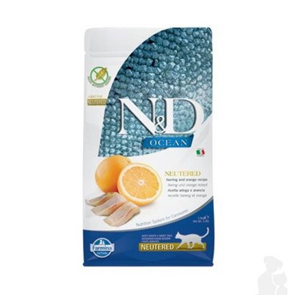 N&D (Farmina Pet Foods) N&D OCEAN CAT NEUTERED Adult Herring & Orange 1,5kg