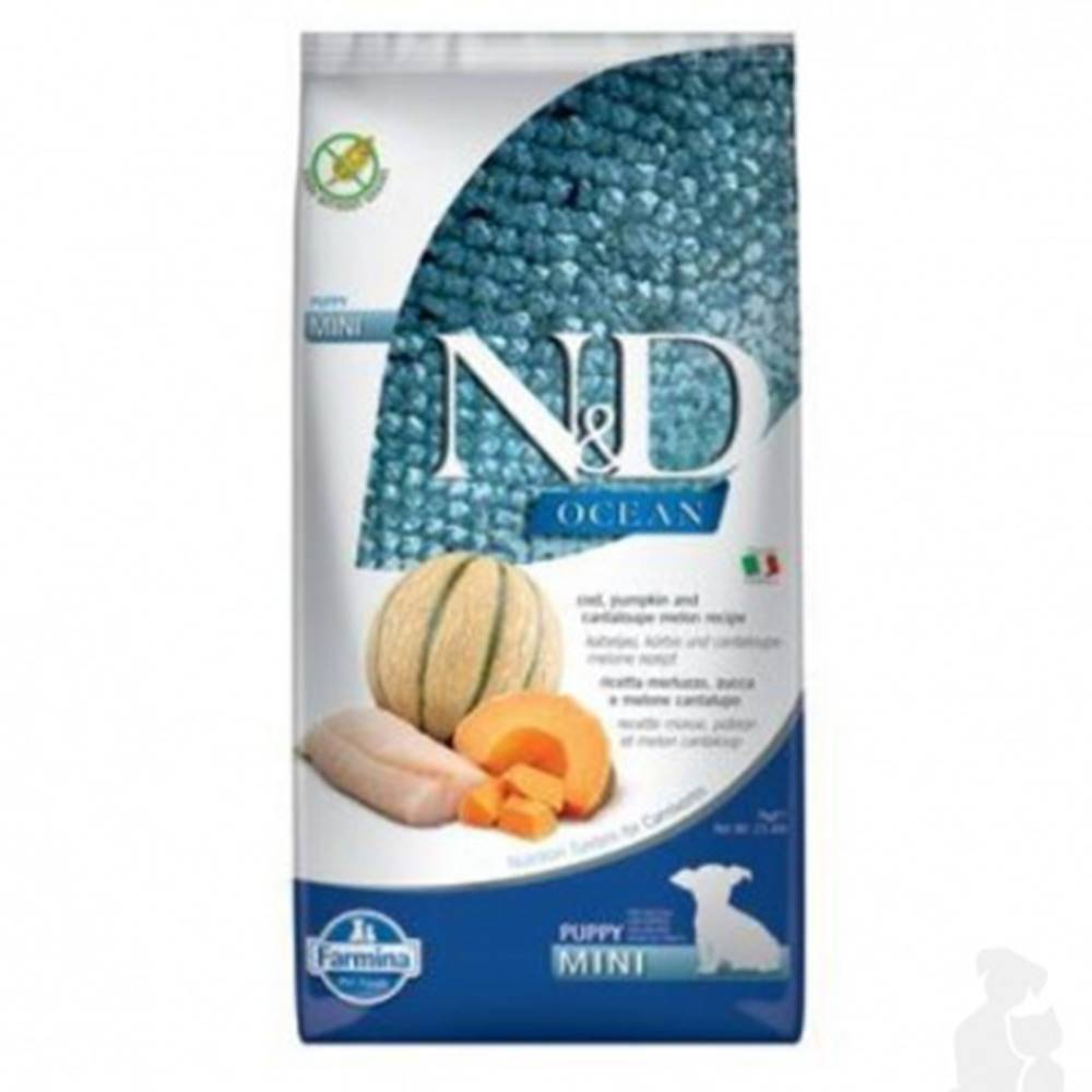 N&D (Farmina Pet Foods) N&D OCEAN DOG Puppy Mini Codfish & Pumpkin & Melon 7kg