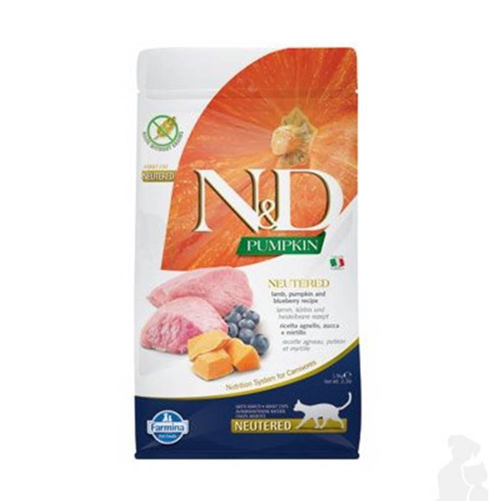 N&D (Farmina Pet Foods) N&D Pumpkin CAT Neutered Lamb & Blueberry 1,5kg