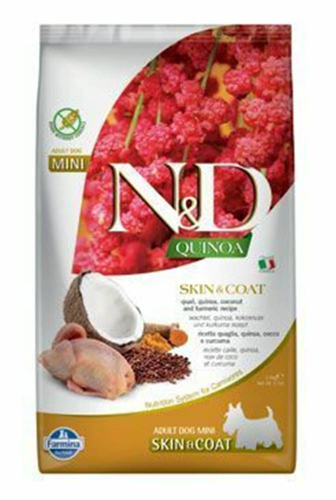 N&D (Farmina Pet Foods) N&D Quinoa DOG Skin & Coat Quail & Coconut Mini 2,5kg