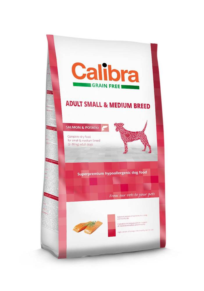 Calibra CALIBRA dog GF ADULT medium losos - 12kg