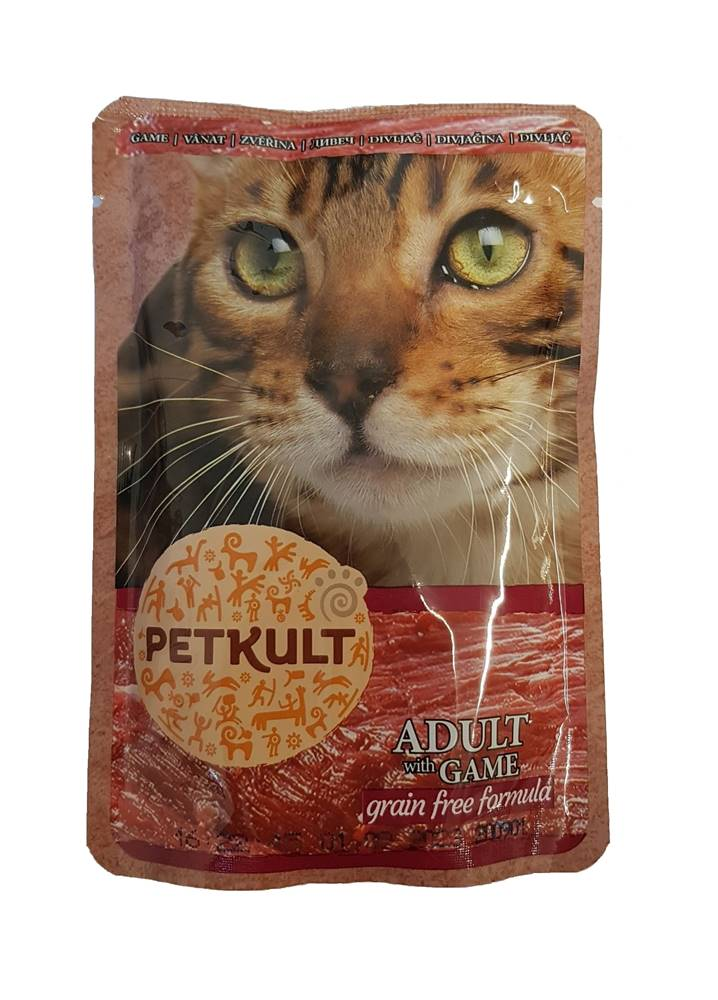 Petkult PETKULT  cat kapsa ZVĚŘINA (game) - 100g