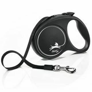 Vodítko FLEXI Black Design L opasok 5m / 50kg stříbrnáNEW