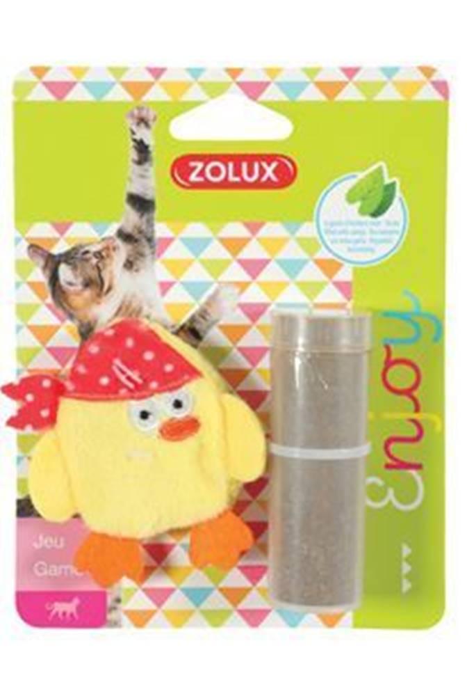 Zolux Hračka mačka PIRATE plniace + kocúrnik žltá Zolux