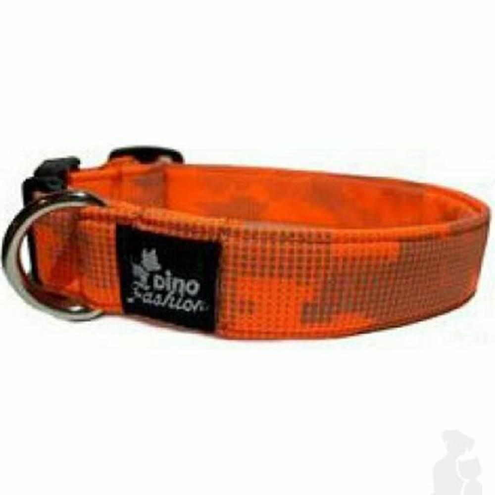 DINOFASHION Obojok DINOFASHION Reflexné oranžovo-šedý 45 / 3cm